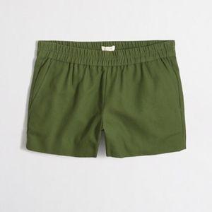 NWT [J. CREW] Boardwalk Shorts in Olive Green